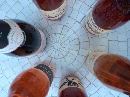 Overhead Shot of Wine Bottles