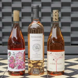 Bottles of Rosé