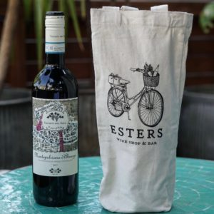 Esters Tote Bag With Wine